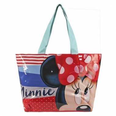 Minnie mouse strandtas 48 cm