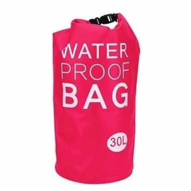 Roze waterdichte tas 30 liter