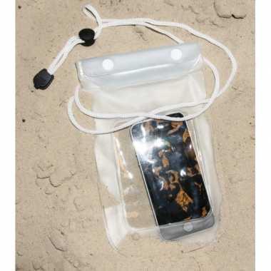 Smartphone tasje wit 13 x 24 5 cm