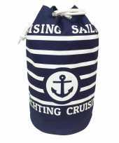 Duffel bag strandtas zak maritiem blauw wit cruise 54 cm