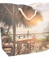 Strandtas tropisch eiland type 2 10 liter