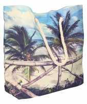 Strandtas tropisch eiland type 3 10 liter
